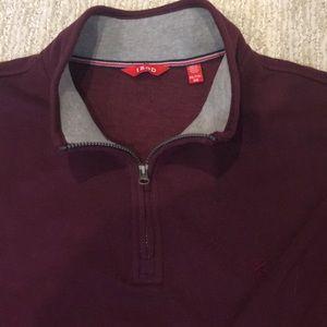 Izod Shirts - IZOD Men's Fleece 3/4 Zip Burgundy Pullover, XXL